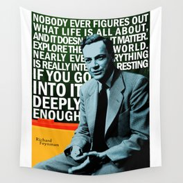 Richard Feynman Quote 1 Wall Tapestry