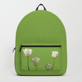 Tulips on green Backpack
