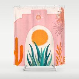 The Day Begins / Desert Garden Landscape Shower Curtain
