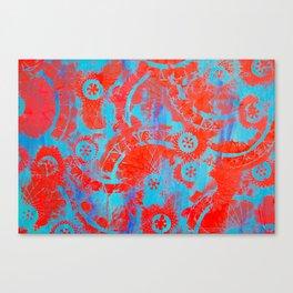 Red mandalas Canvas Print