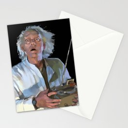 Doc Brown 2 Stationery Cards