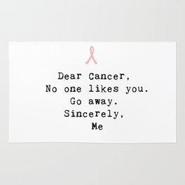Go Away Cancer Rug