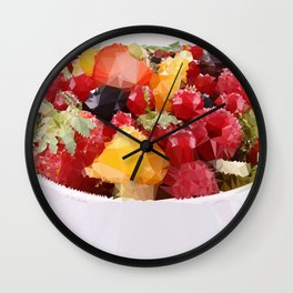 Fruits 2 Low Poly Wall Clock