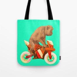 MONKEY BIKER Tote Bag