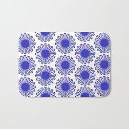 vintage flowers blue  Bath Mat