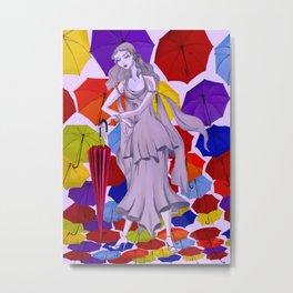 Needs an umbrella? Metal Print