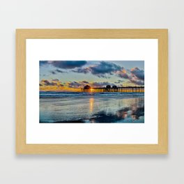 Surf City Sunset  11/15/15   Framed Art Print