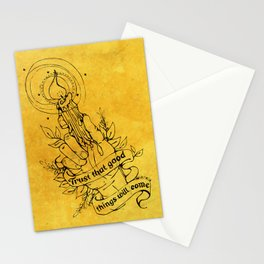 Candle Light Hope (Yellow Colors) Stationery Cards
