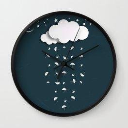 It's raining umbrellas Wall Clock