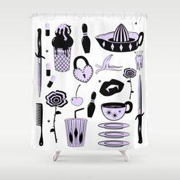 Switchblades Shower Curtain