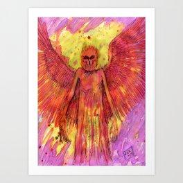 Red Angel Art Print