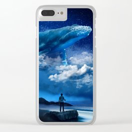 Night Whale Clear iPhone Case