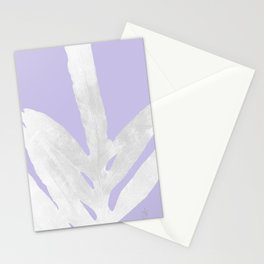 Green Fern on Lavender Inverted Stationery Cards