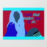 "selena gomez Canvas Prints featuring ""Well that makes two of us"" - Selena Gomez by teeninkd"