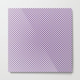 Amethyst Orchid and White Polka Dots Metal Print