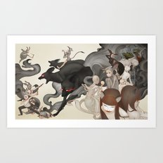 Internal Conflict Art Print