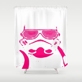 Pink Trooper Shower Curtain