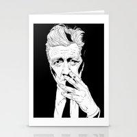david lynch Stationery Cards featuring David Lynch by Olivier Carignan