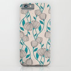 Blue Stem Flowers iPhone 6 Slim Case