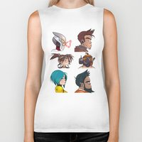 gorillaz Biker Tanks featuring Bandit Days by Philtomato