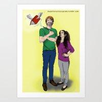 Flying Book Art Print