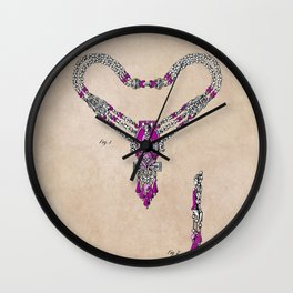 patent Necklace or the like Wall Clock