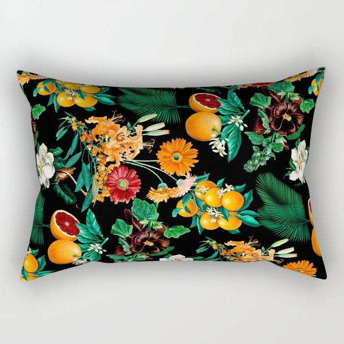 Fruit and Floral Pattern Rectangular Pillow