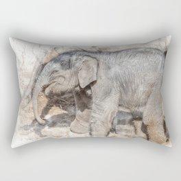Indian Elephant watercolour Rectangular Pillow