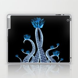 Octopus with Blue Lotus Flower Floral Print Laptop & iPad Skin