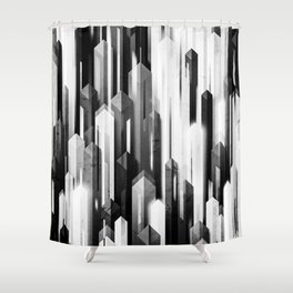 obelisk posture 2 (monochrome series) Shower Curtain
