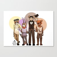 roosterteeth Canvas Prints featuring Five Nights at CFVY's by TheKingKez