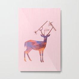 Urban Deer - Sunset Metal Print