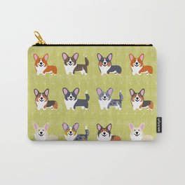Pembrokes and Cardigans - CORGIS Carry-All Pouch