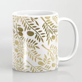 Gold Olive Branches Coffee Mug