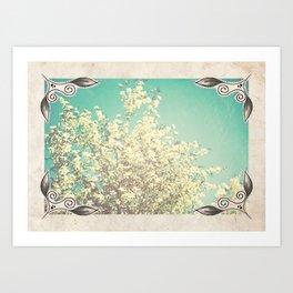 Framed Floral Art Print