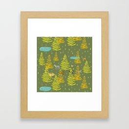 Alpine Dogs Framed Art Print