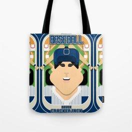 Baseball Blue Pinstripes - Deuce Crackerjack - Amy version Tote Bag