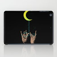the moon iPad Cases featuring MOON by GENO
