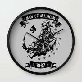 Men of Mayhem mc v2 Wall Clock