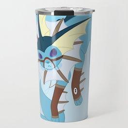 Water Steampunk Fox Travel Mug