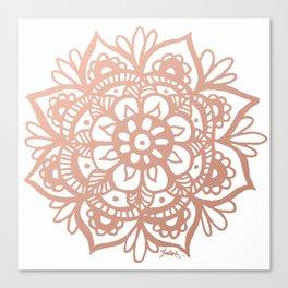 Rose Gold Mandala Canvas Print