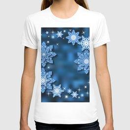 Snowflake background T-shirt