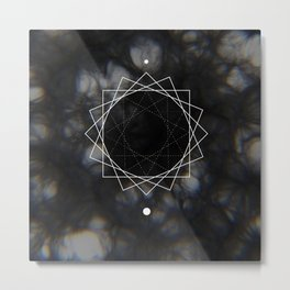 Sun Delay Geometry Metal Print