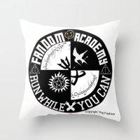 fandom Throw Pillows featuring Ultimate Fandom Academy by Thg Fashion
