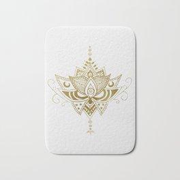 Gold Lotus Bath Mat