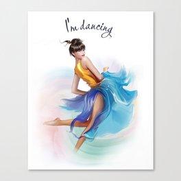 dancing ballerina2 Canvas Print