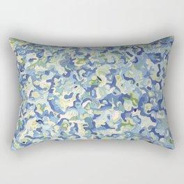 Water Play in Green Rectangular Pillow