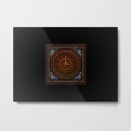 vintage clock_3 Metal Print