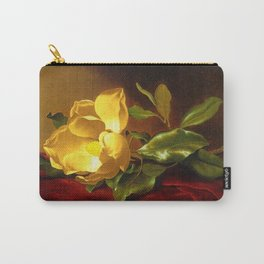 A Gold Yellow Magnolia on Red Velvet by Martin Johnson Head Carry-All Pouch