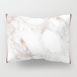 Luxury Rose-gold Faux Marble Pillow Sham